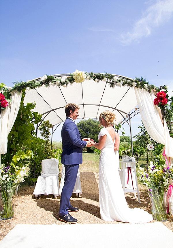 Homemade outdoor ceremony