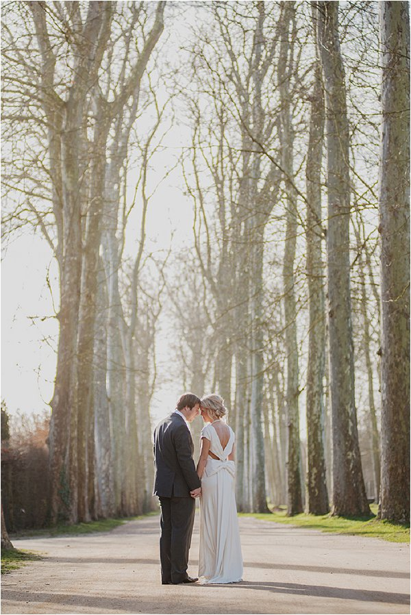 Intimate moment in the shadow of the trees
