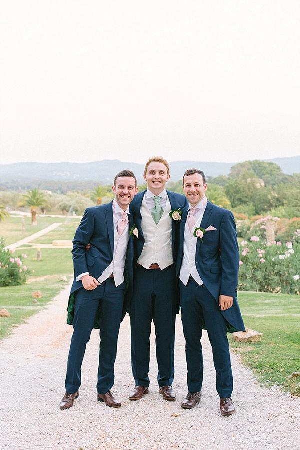 Pastel groomsmen cravat