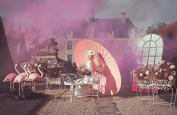 Pink inspired garden wedding