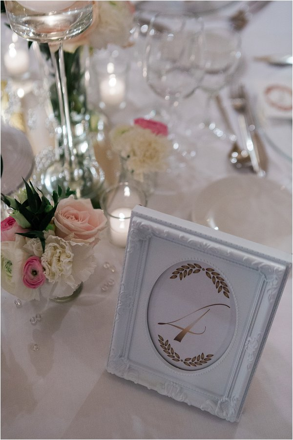 Pretty framed table numbers