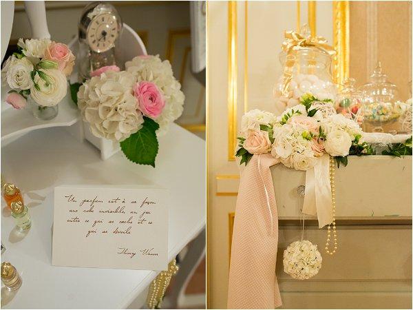 Pretty pastel floral wedding details
