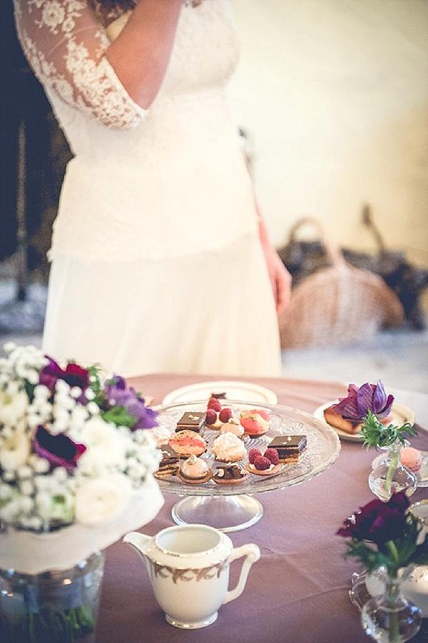 Pretty wedding afternoon tea