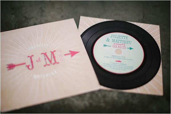 Rock n roll wedding stationery