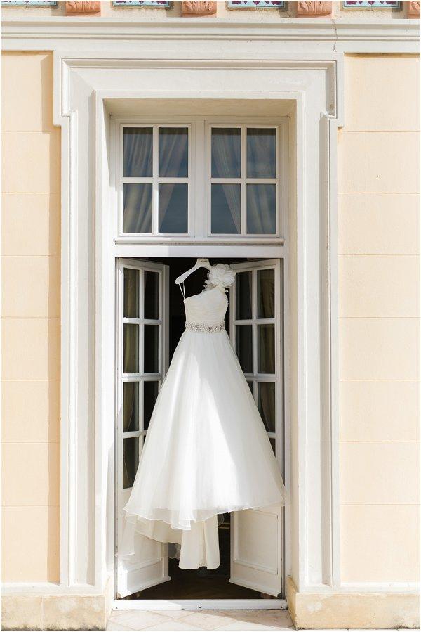 Stunning one shoulder princess wedding gown