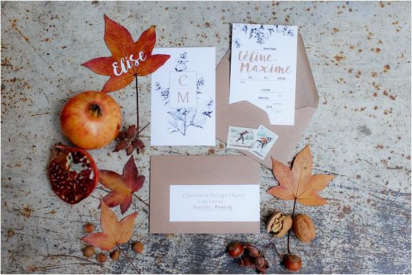 autumn wedding stationery
