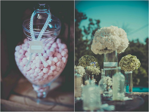 Candy bar and flower arrangement Provence
