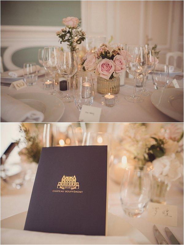 elegant chateau wedding reception
