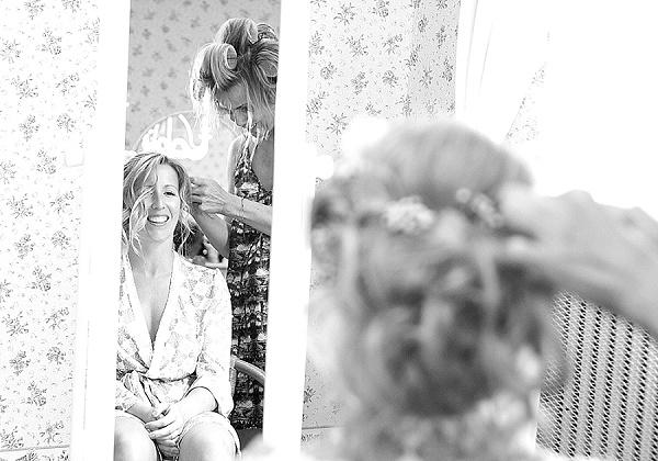 natural wedding makeup & soft updo