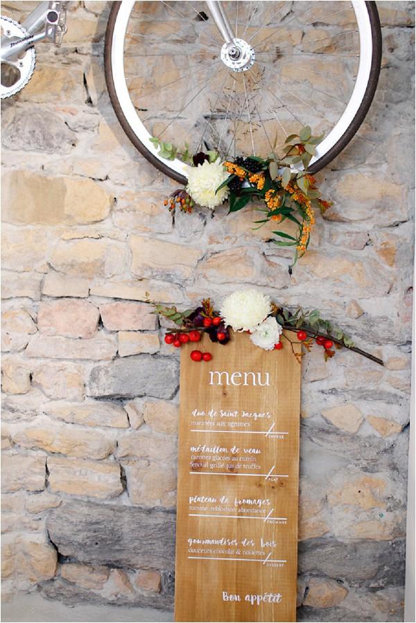 personalised wedding menu sign