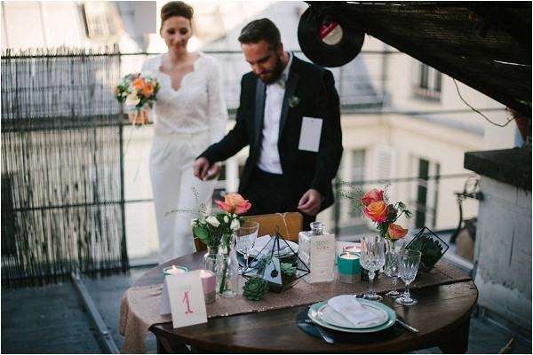 rooftop wedding in Paris