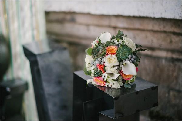 succulent and orange bouquet