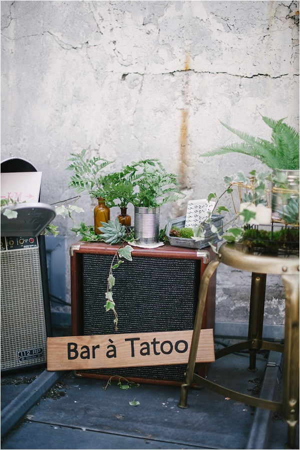 tattoo bar at weddings