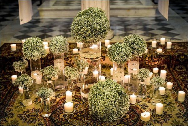 wedding canddes church decoration Provence