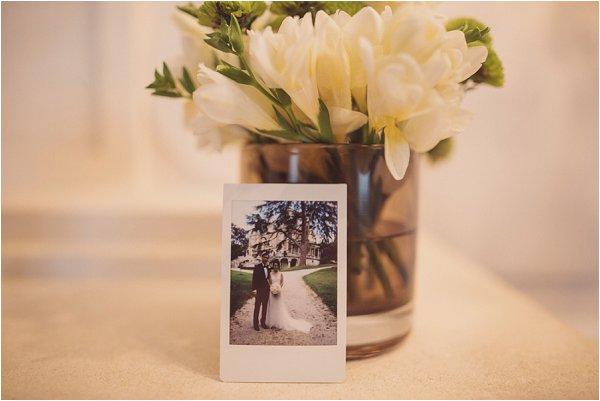 wedding day polaroid