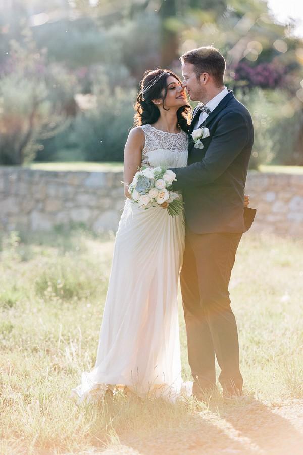 Beautiful provencal vineyard wedding