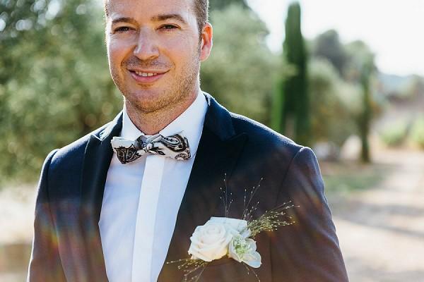 Bow tie Provencal Countryside Wedding