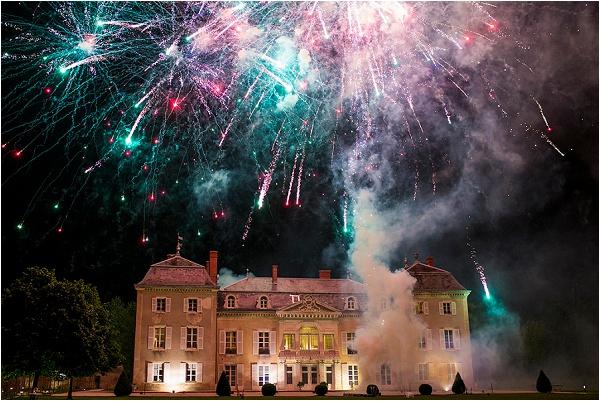 Château De Varennes wedding fireworks