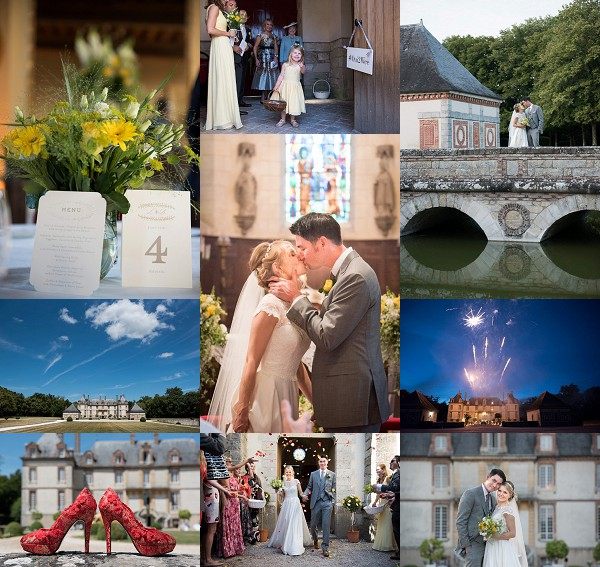 Chateau de Bourron wedding outside Paris Snapshot