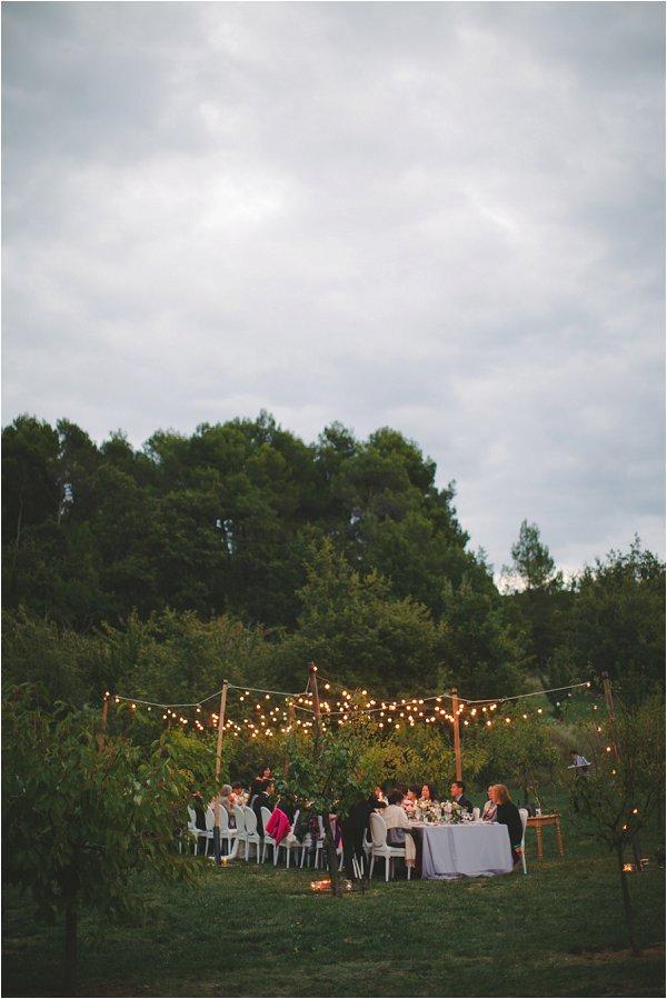 DIY outdoor wedding table in provence