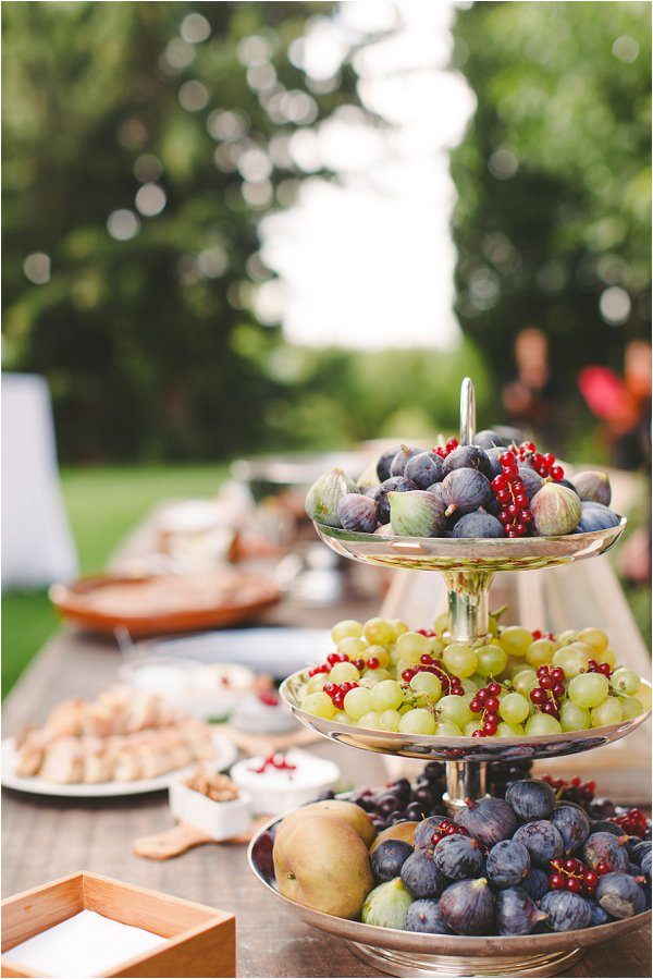 Delicious local fruits at DIY French Wedding