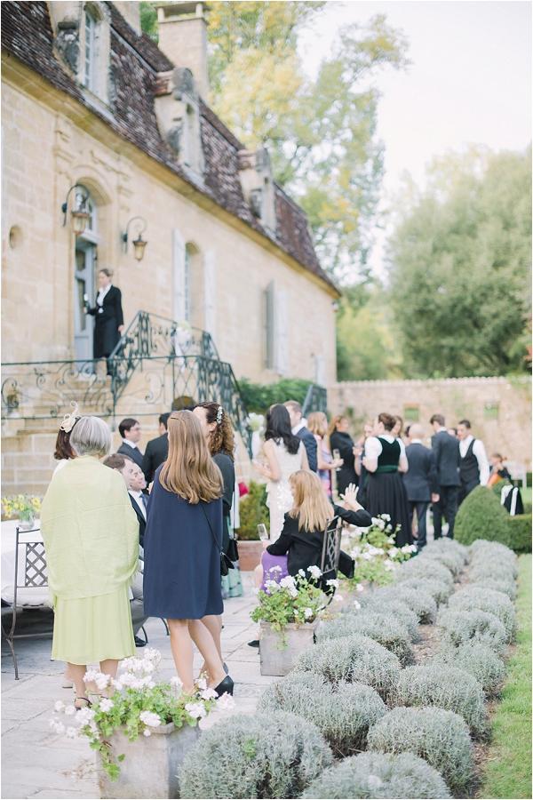 Elegant French wedding reception