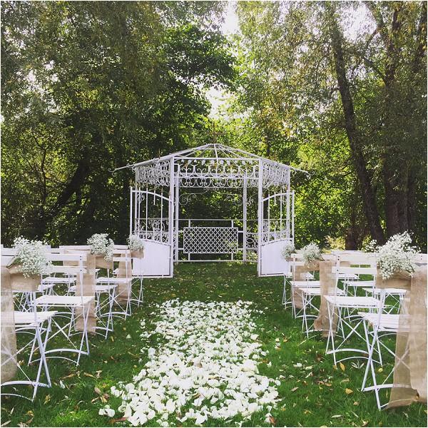 French Chateau summer wedding venue