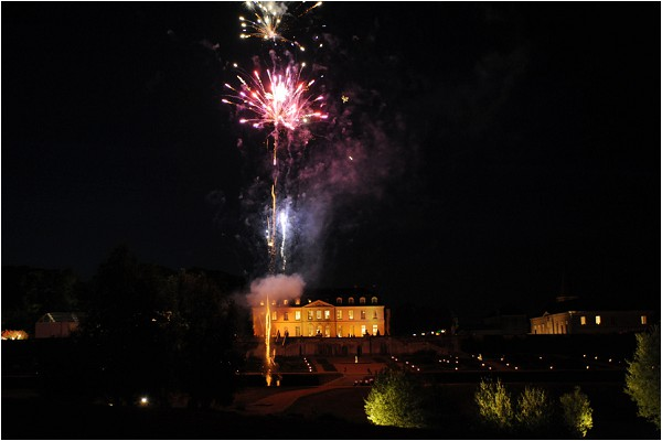 French Chateau rental fireworks