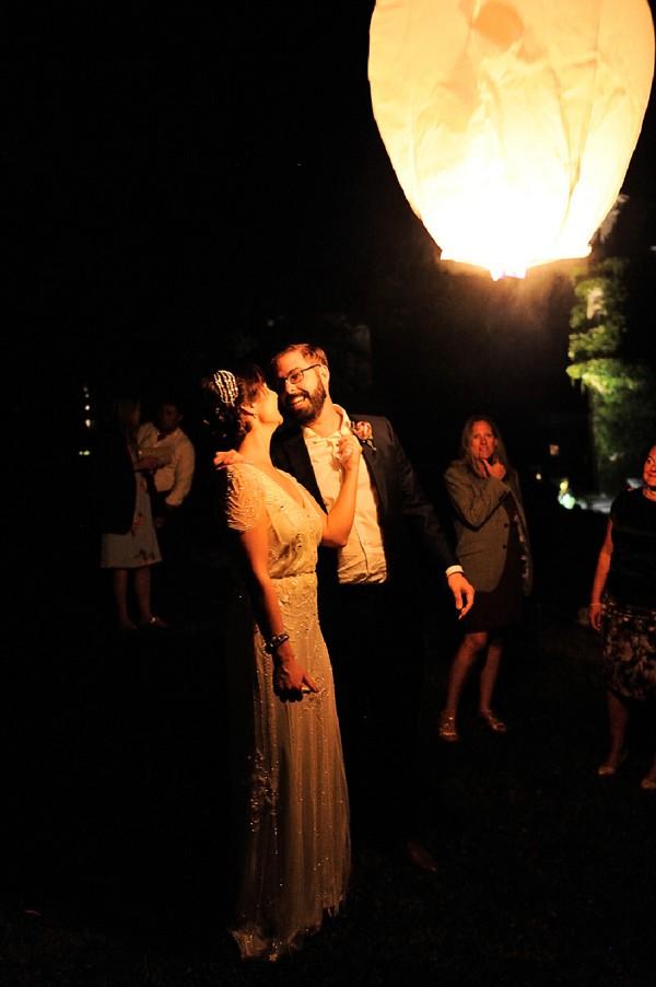 French wedding lantern wish