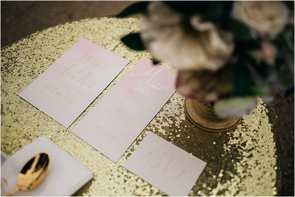 Gold sparkle wedding tablecloth