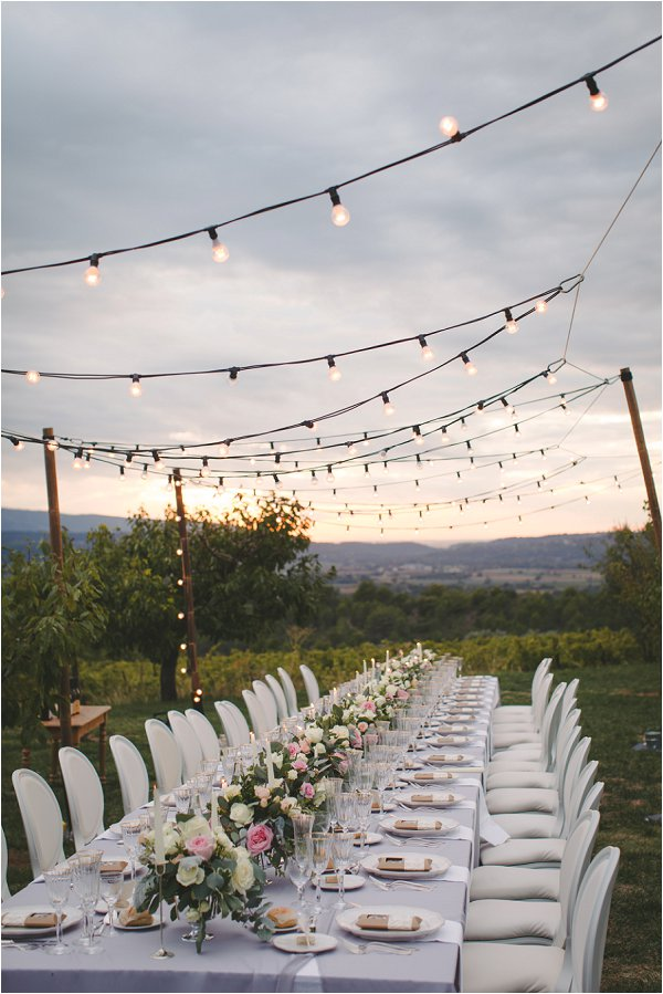 Gorgeous DIY wedding table in Provence