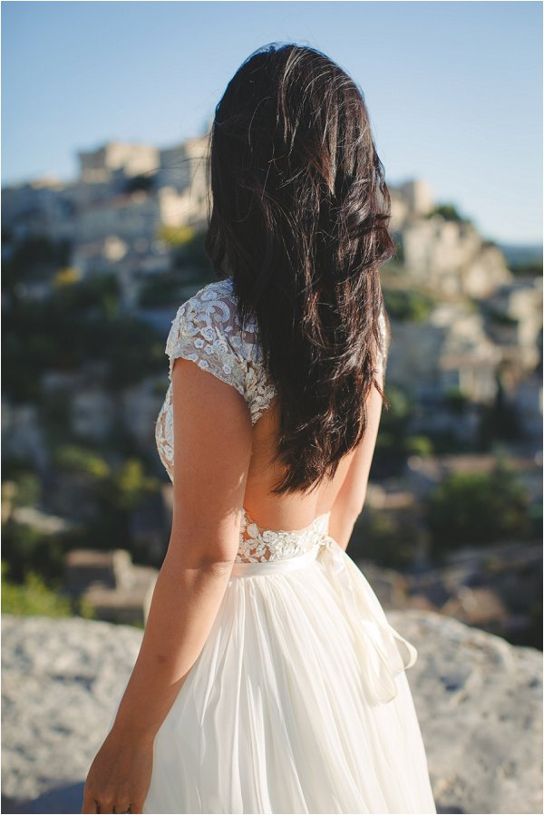 Hand made backless wedding gown