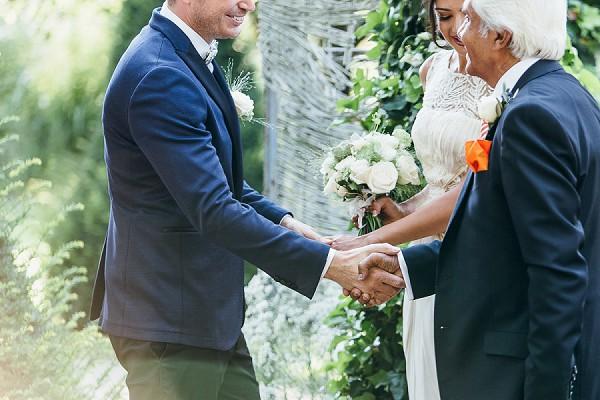Hindu inspired wedding ceremony