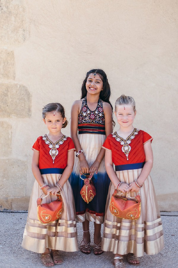 Indian inspired flower girl outfits