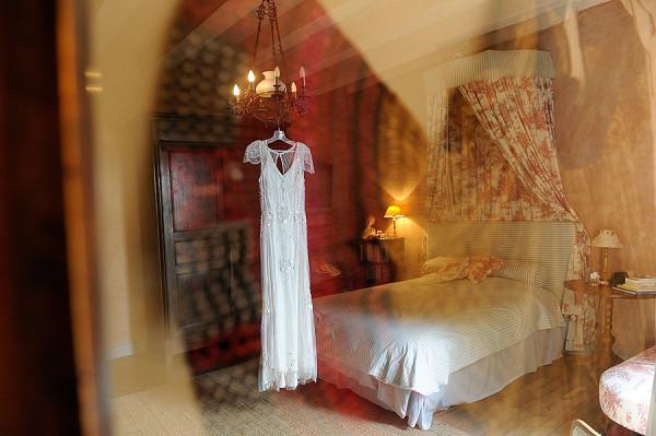 Jenny Packham caped sleeve wedding dress