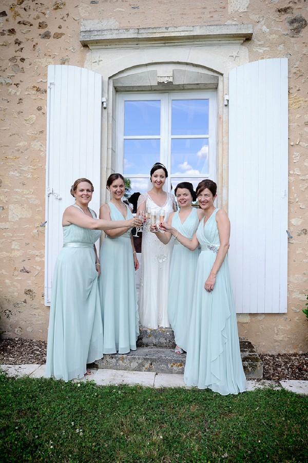 Jenny Packham mint bridesmiad dresses