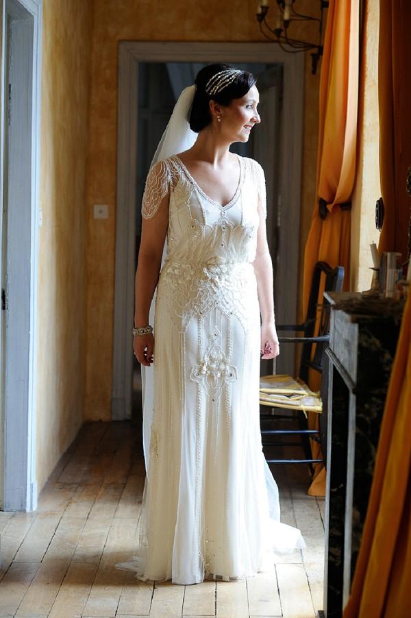 Jenny Packham sheer wedding gown