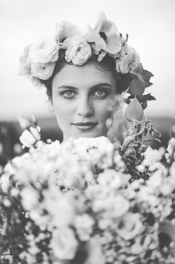 Large wedding flower crown