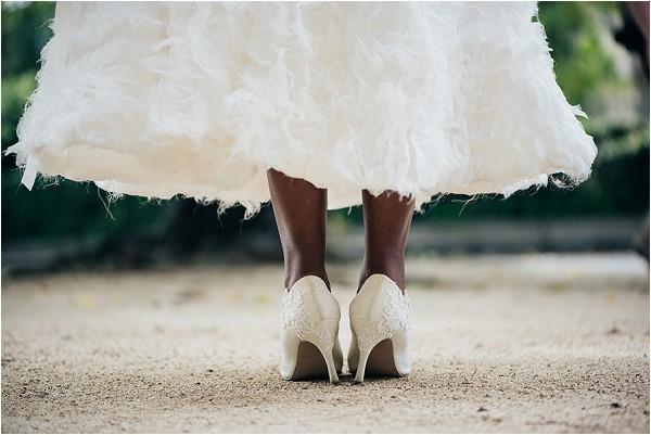 Marsha Hall wedding shoes