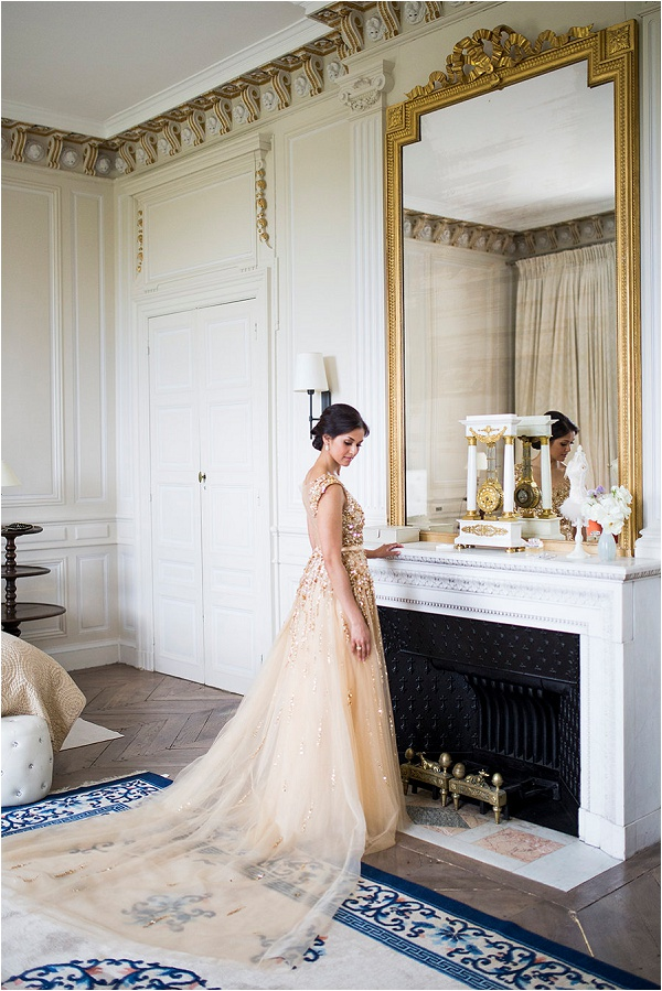 Noel Chu Atelier gold wedding dress