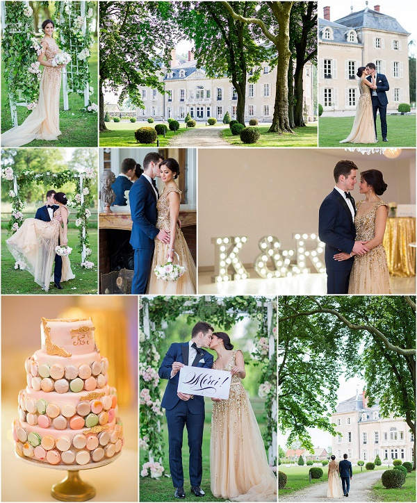 Old World Elegance Destination Wedding in Burgundy Snapshot