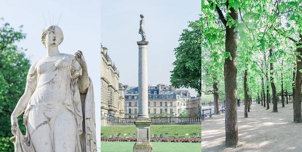Paris gardens shoot inspiration