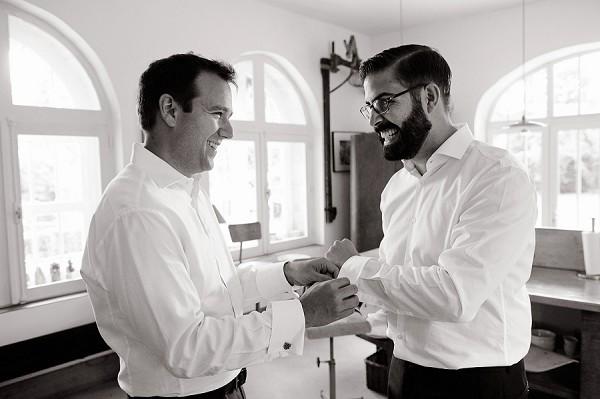Paul Smith groom wedding suit