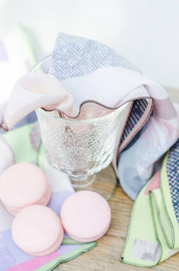 Pink wedding macarons
