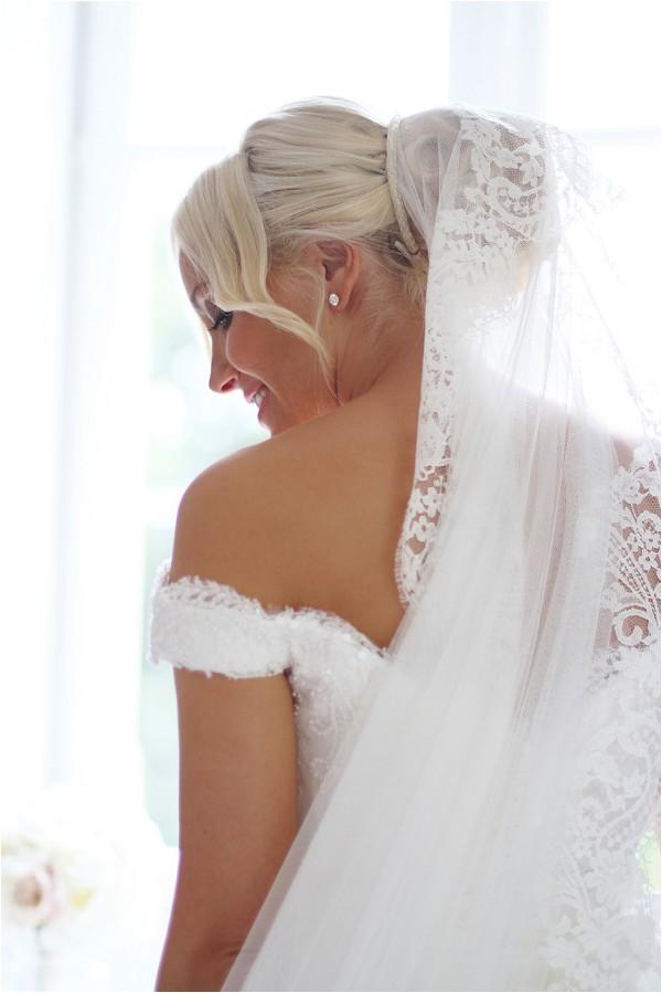 Princess veil for bride