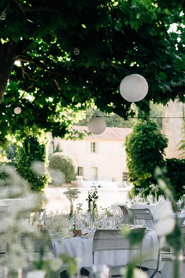 Provence courtyard wedding reception