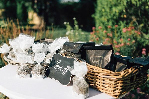 Provence lavender confetti bags