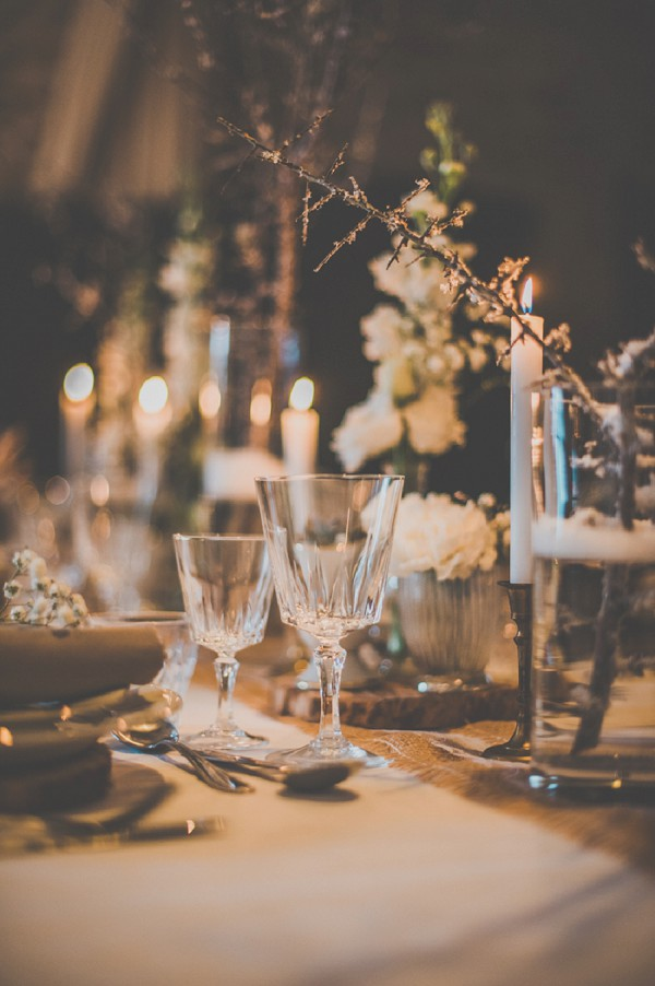 Rustic winter wedding decor