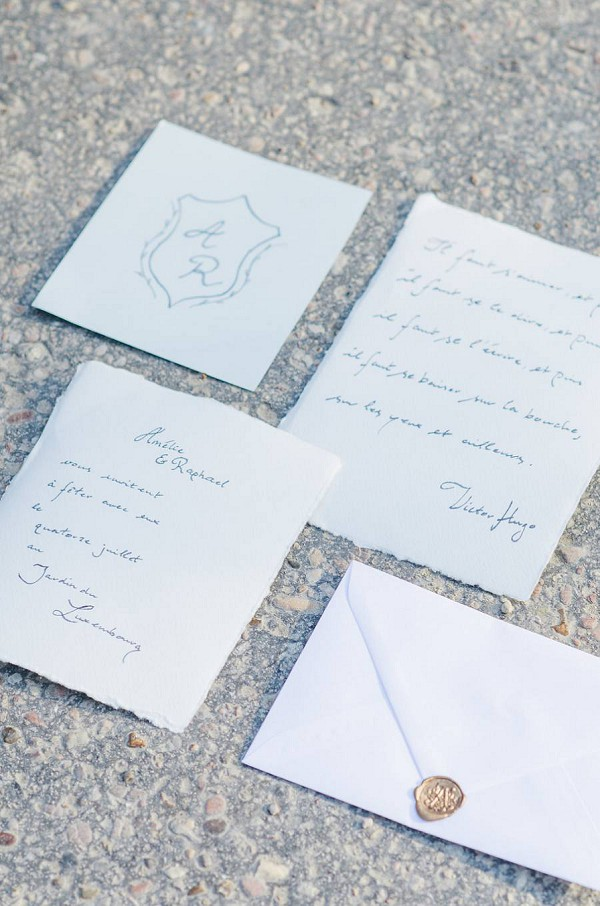 Simple initials wedding invites