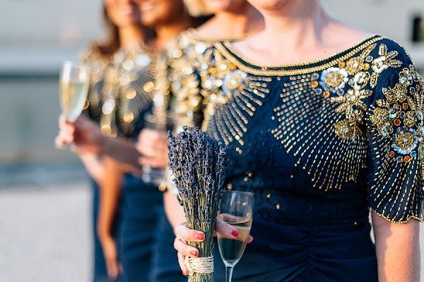 Stunning navy bridesmaid dresses